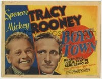 3b065 BOYS TOWN TC 1938 Spencer Tracy as Father Flannagan with Mickey Rooney, very rare!