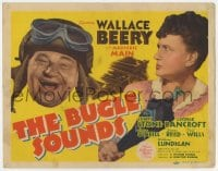 3b070 BUGLE SOUNDS TC 1942 great images of military man Wallace Beery & Marjorie Main!