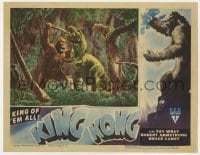 3b001 KING KONG LC R1946 best special effects image of the giant ape fighting dinosaur in jungle!