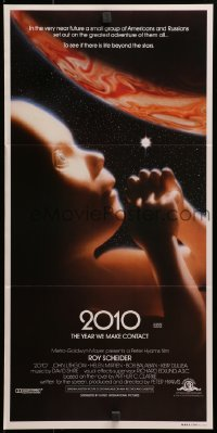 3c216 2010 Aust daybill 1984 sequel to 2001: A Space Odyssey, image of the starchild & Jupiter!