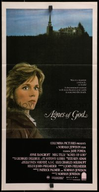 3c220 AGNES OF GOD Aust daybill 1986 directed by Norman Jewison, Jane Fonda, nun Meg Tilly!