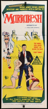 3c236 BANG BANG YOU'RE DEAD Aust daybill 1966 different art of Tony Randall & sexy women!