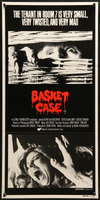 3c237 BASKET CASE Aust daybill 1982 the tenant in room 7 is very small, very twisted & VERY mad!