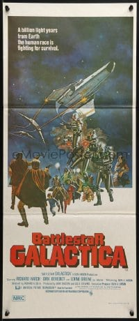 3c238 BATTLESTAR GALACTICA Aust daybill 1978 great sci-fi art by Robert Tanenbaum!