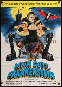 3c673 ABBOTT & COSTELLO MEET FRANKENSTEIN German R1970 Wolfman & Dracula after Bud & Lou, Dill art