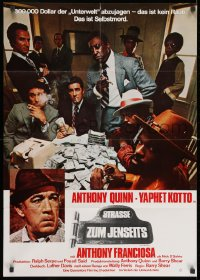 3c675 ACROSS 110th STREET German 1973 Anthony Quinn, Yaphet Kotto has a HUGE pile of money!