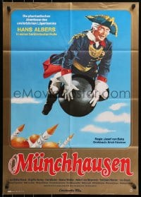 3c676 ADVENTURES OF BARON MUNCHAUSEN German R1978 Josef von Baky's Munchausen, wacky artwork!