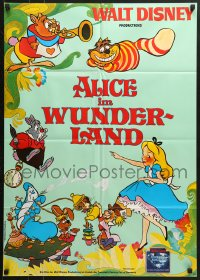 3c679 ALICE IN WONDERLAND German R1984 Walt Disney Lewis Carroll classic, different art!