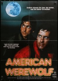 3c680 AMERICAN WEREWOLF IN LONDON German 1982 image of David Naughton & Griffin Dunne!