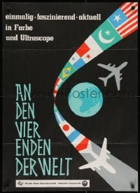 3c682 AN DEN VIER ENDEN DER WELT German 1961 Riesenfeld, at the four ends of the world!