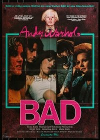 3c683 ANDY WARHOL'S BAD German 1977 Carroll Baker & King, sexploitation comedy, different!