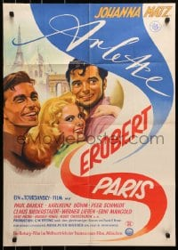 3c686 ARLETTE CONQUERS PARIS German 1953 German/French movie starring Carl Boehm!