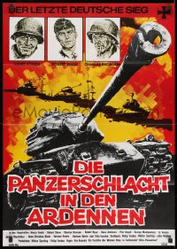3c689 BATTLE OF THE BULGE German R1977 Henry Fonda, Robert Shaw, cool different tank art!
