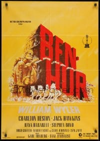 3c691 BEN-HUR German R1970s Charlton Heston, William Wyler classic religious epic!