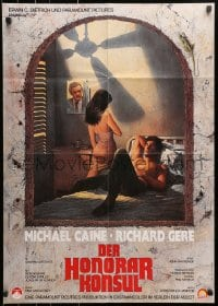 3c694 BEYOND THE LIMIT German 1984 art of Michael Caine, Richard Gere & woman by Richard Amsel!