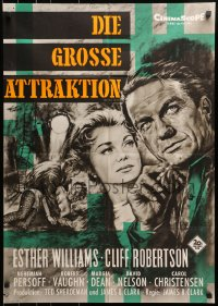 3c696 BIG SHOW German 1961 sexy Esther Williams & Cliff Robertson at circus by Rolf Goetze!