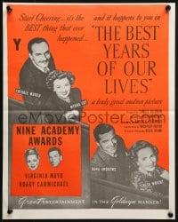 3c180 BEST YEARS OF OUR LIVES New Zealand R1960s Dana Andrews, Teresa Wright, Virginia Mayo!