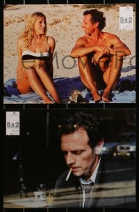 3c038 5X2 6 French LCs 2004 different images of Francois Ozon, Valeria Bruni Tedeschi!
