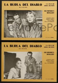 3c025 BEAT THE DEVIL 8 Spanish LCs R1980 Humphrey Bogart, Gina Lollobrigida, Jennifer Jones, Huston!