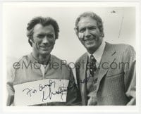 3d835 GREGORY WALCOTT signed 8x10 REPRO still 1990s w/ Clint Eastwood in Every Which Way But Loose!