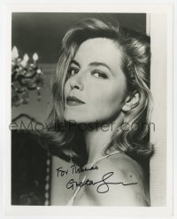 3d836 GRETA SCACCHI signed 8x10 REPRO still 1990s great close up of the sxy blonde actress!