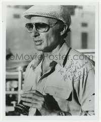 3d515 HAROLD BECKER signed candid 8x9.75 still 1979 directing on the set of The Onion Field!