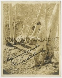3d516 HAROLD LOCKWOOD signed deluxe 8x10 still 1910s candid portrait in the woods by Hartsook!