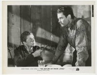 3d518 HENRY FONDA signed 8x10.25 still 1940 c/u with Jackie Cooper in Return of The Frank James!
