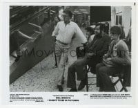 3d519 HERBERT ROSS signed 8x10.25 still 1982 directing on the set of I Ought To Be In Pictures!