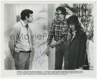 3d521 HERBERT ROSS signed candid 8x10 still 1978 directing Matthau & May in California Suite!