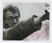 3d520 HERBERT ROSS signed candid 8.25x9.75 still 1976 c/u directing The Seven-Per-Cent Solution!