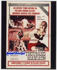 3d841 HERSCHELL GORDON LEWIS signed color 8x10 REPRO still 2002 one-sheet from Two Thousand Maniacs!