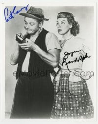 3d842 HONEYMOONERS signed 8x10 REPRO still 1980s by BOTH Art Carney AND Joyce Randolph!