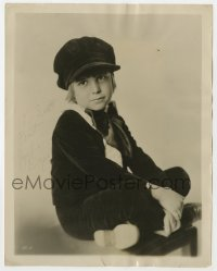 3d527 JACKIE COOGAN signed 8x10.25 still 1922 signing with MGM with a $500,000 bonus!