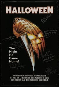 3d002 HALLOWEEN signed 24x36 commercial poster 2000s by NINE of the cast members, Bob Gleason art!