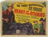 3d143 HEART OF THE ROCKIES signed TC 1937 by Ray Corrigan, who's part of The Three Mesquiteers!