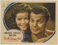 3d144 I'LL BE SEEING YOU signed LC 1945 by Shirley Temple, best close up with Joseph Cotten!