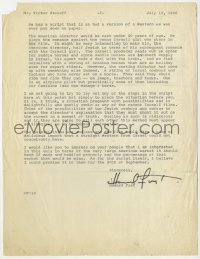 3d219 HOWARD FAST signed letter 1966 great content, saying Israeli western script is the worst ever!