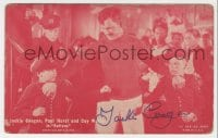 3d410 JACKIE COOGAN signed 3x6 arcade card 1927 scene with Paul Hurst & Coy Wilson from Buttons!