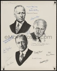 3d003 HOLLYWOOD PRODUCERS signed 24x30 art print 1988 by TWELVE Paramount actors & actresses!