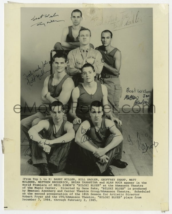 Emovieposter Com 3d449 Biloxi Blues Signed Stage Play 8x10 Still