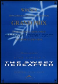 3f040 SWEET HEREAFTER teaser Canadian 1sh 1997 directed by Atom Egoyan, Ian Holm, Maury Chaykin!