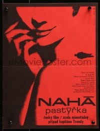 3f300 NAHA PASTYRKA Czech 11x15 1966 really cool red artwork of woman by Milan Grygar!