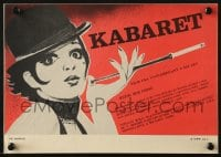 3f279 CABARET Czech 8x12 1989 great different art of Liza Minnelli with cigarette in holder!
