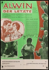 3f502 ALWIN DER LETZTE East German 16x23 1961 Ofrosimov artwork of cock & top cast!
