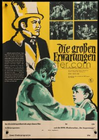 3f515 GREAT EXPECTATIONS East German 16x23 1960 Dickens, David Lean, Schonfeldart of Anthony Wager!