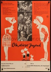3f522 OH DIESE JUNGEND East German 16x23 1962 Peter Harden, Helga Raumer, oh this youth!