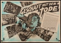 3f525 SILVER DUST East German 17x24 1954 P. Armand and Abram Room's Serebristaya pyl, Pohl art!