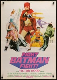 3f010 FIGHT BATMAN FIGHT Filipino poster 1973 different art of Victor Wood in the title role!