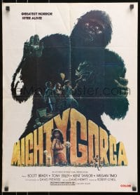3f049 MIGHTY GORGA Lebanese 1969 Scott Brady, completely different art of the giant ape creature!